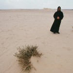 Mediating monk on remote sands of the Wadi Natroun.