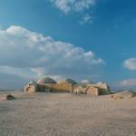 Lone Coptic hermitage on sands of Wadi Natroun.