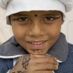 Henna adorned Egyptian lad