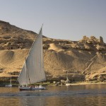 Felucca under sail at Aswan
