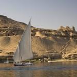 Felucca under sail at Aswan