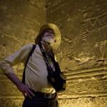 Nile cruise passenger in Horus Temple on Nile