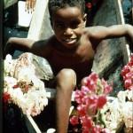 Nubian flower boy in dug out