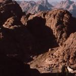 Elijah's Plateau beneath Mt. Sinai summit