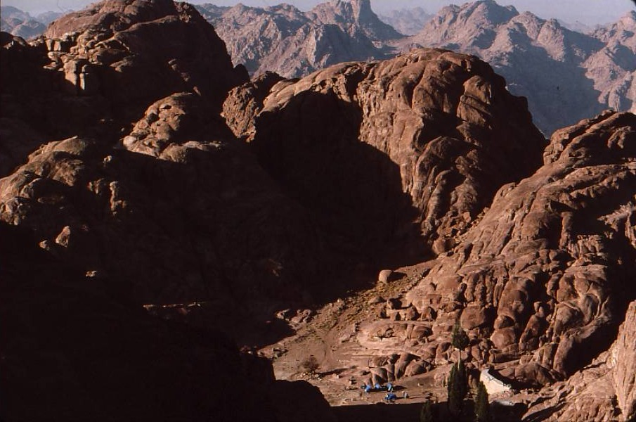 Elijah's Plateau beneath Mt. Sinai summit