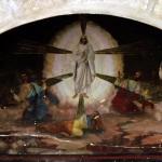 Ancient fresco in monastery chapel