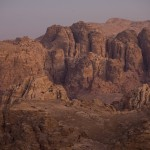 Rose-pink  Petra  landscape at dawn