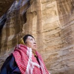 Kaffiyeh- adorned overseas explorer