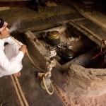 Jordanian at ease with water pipe