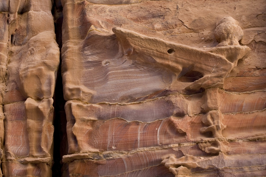 Weathered by wind and water, Petra's rose-red wonder revealed
