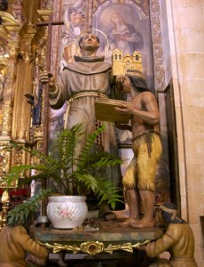 Statue of Junipero Serra in Mallorca, Spain