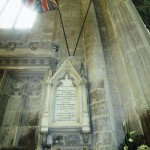 Gloucester Cathedral memorial to British composer of American National Anthem John Stafford Smith